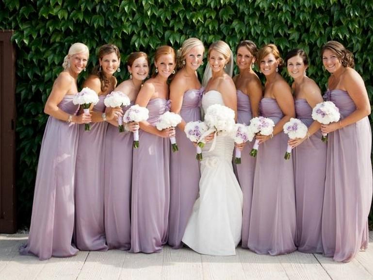 Attractive Pale Purple Bridesmaid Dresses Illustration